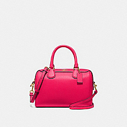 COACH F67673 Mini Bennett Satchel NEON PINK/LIGHT GOLD