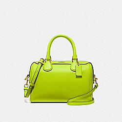 COACH F67673 - MINI BENNETT SATCHEL NEON YELLOW/LIGHT GOLD