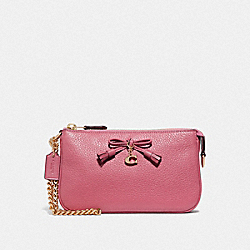 COACH F67695 Large Wristlet 19 STRAWBERRY/LIGHT GOLD