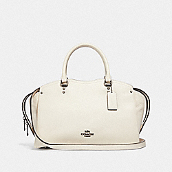 COACH DREW SATCHEL WITH SNAKESKIN DETAIL - F67710 - GM/CHALK