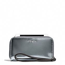 COACH F67736 Mirror Metallic Leather East/west Universal Case