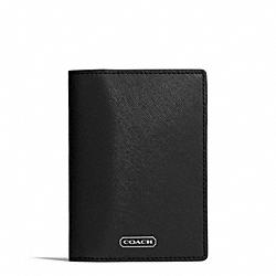 COACH F67737 Darcy Leather Passport Case SILVER/BLACK