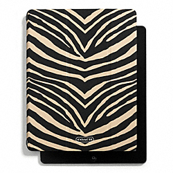 COACH F67739 Zebra Print Trifold Ipad Case