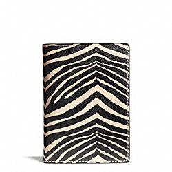 COACH F67740 Zebra Print Passport Case