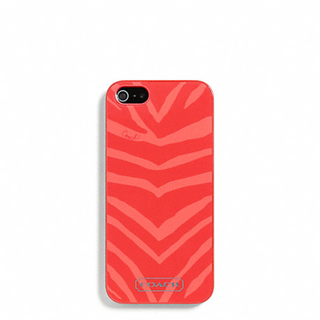 COACH f67753 ZEBRA PRINT MOLDED IPHONE 5 CASE HOT ORANGE