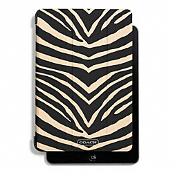 COACH F67768 Zebra Print Trifold Mini Ipad Case