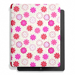 COACH F67805 Floral Print Trifold Ipad Case