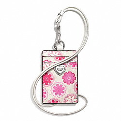 COACH F67809 - FLORAL PRINT LANYARD ID CASE ONE-COLOR