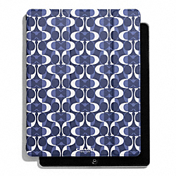 COACH F67825 Peyton Dream C Trifold Ipad Case NAVY
