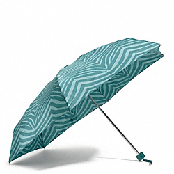 COACH F67852 Zebra Print Mini Umbrella SILVER/MINERAL