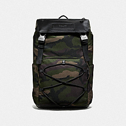 COACH F67947 Terrain Roll Top Backpack With Camo Print DARK GREEN MULTI/BLACK ANTIQUE NICKEL