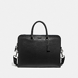 COACH F68029 - BECKETT PORTFOLIO BRIEF BLACK/NICKEL
