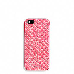 COACH F68057 Snake Print Iphone 5 Case PINK MULTICOLOR
