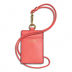 COACH F68075 Darcy Leather Lanyard Id Case