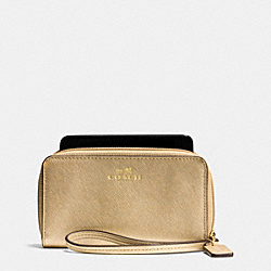 COACH F68079 Darcy Leather East/west Universal Phone Case IM/GOLD