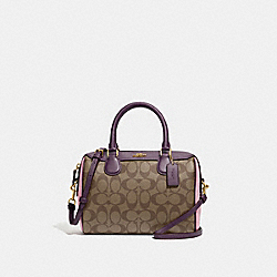 COACH F68100 - MINI BENNETT SATCHEL IN COLORBLOCK SIGNATURE CANVAS TULIP/KHAKI/GOLD