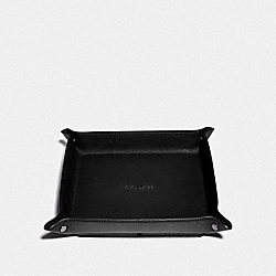 COACH F68152 Valet Tray Charging Pad BLACK/BLACK ANTIQUE NICKEL