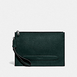 STRUCTURED POUCH - F68154 - FOREST/NICKEL