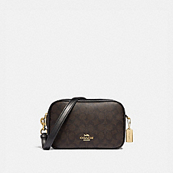 COACH F68168 - JES CROSSBODY IN SIGNATURE CANVAS BROWN/BLACK/LIGHT GOLD