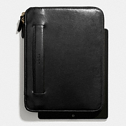 COACH F68282 Bleecker Zip Ipad Case With Stand BLACK