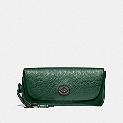 COACH F68289 Sunglass Case QB/DARK PINE