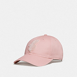 COACH F68401 Varsity C Patch Hat CARNATION
