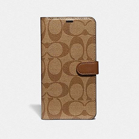 designer fashion f33c3 446da COACH F68426 - IPHONE XS MAX FOLIO IN SIGNATURE CANVAS - KHAKI ...