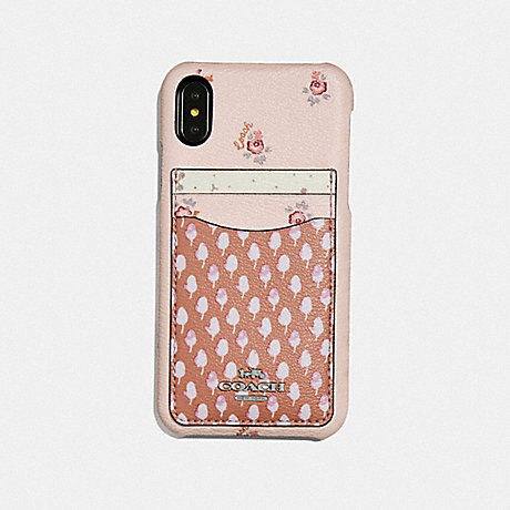 COACH IPHONE XR CASE WITH ACORN PATCHWORK PRINT - PINK MULTI - F68429