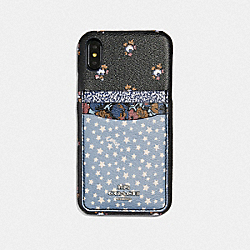 COACH F68430 - IPHONE XS MAX WITH DITSY STAR PATCHWORK PRINT BLUE MULTI