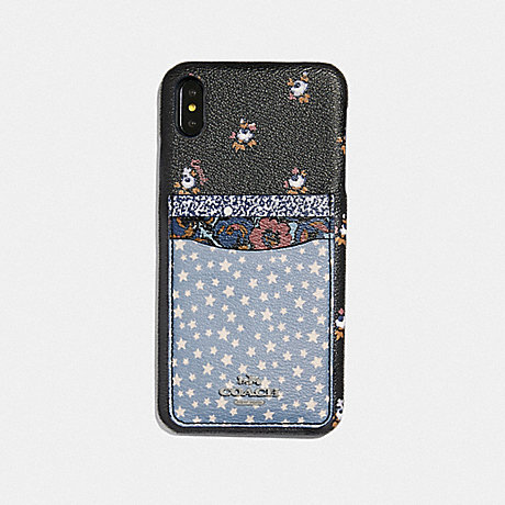 COACH IPHONE XR CASE WITH DITSY STAR PATCHWORK PRINT - BLUE MULTI - F68431