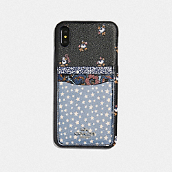 COACH F68431 Iphone Xr Case With Ditsy Star Patchwork Print BLUE MULTI