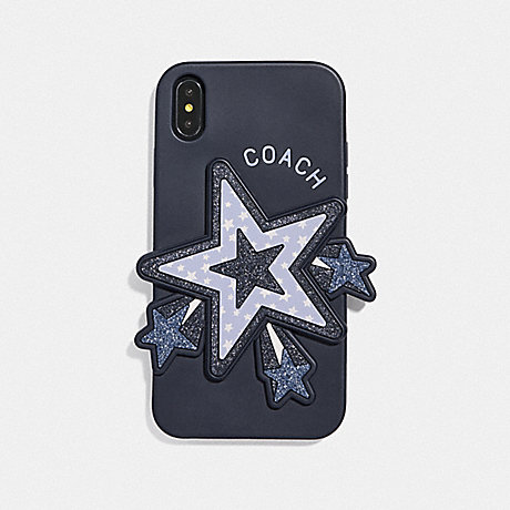 COACH IPHONE XR CASE WITH OVERSIZED STAR - CORNFLOWER MULTI - F68432