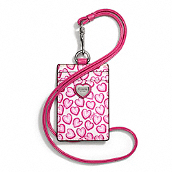 COACH F68437 - HEART PRINT LANYARD ID CASE ONE-COLOR