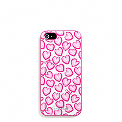 COACH F68443 Heart Print Molded Iphone 5 Case