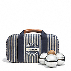 COACH F68453 Heritage Beach Canvas Bocce Ball Set
