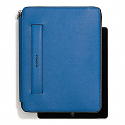 LEXINGTON SAFFIANO LEATHER MOLDED ZIP IPAD CASE - f68510 - MARINE, MARINA