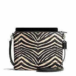 COACH F68599 Zebra Print Tablet Crossbody