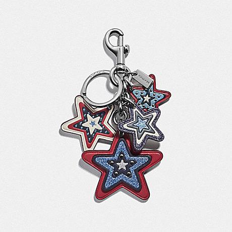 COACH F68651 AMERICAN STAR CLUSTER BAG CHARM SILVER/MULTI