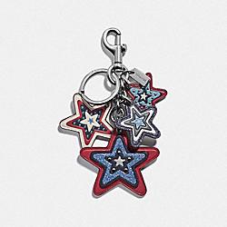 COACH F68651 - AMERICAN STAR CLUSTER BAG CHARM SILVER/MULTI