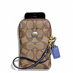 COACH F68660 Peyton Signature Universal Phone Case