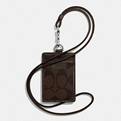 COACH F68664 - HERITAGE LANYARD IN SIGNATURE MAHOGANY/BROWN
