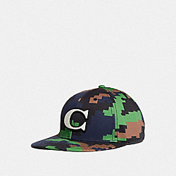 COACH F68794 Camo Varsity C Cap BLUE/GREEN