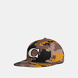 COACH F68794 - CAMO VARSITY C CAP YELLOW/BLACK