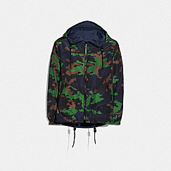 SEASONAL PRINT REVERSIBLE NYLON TRAINER - F68802 - NAVY/GREEN CAMO