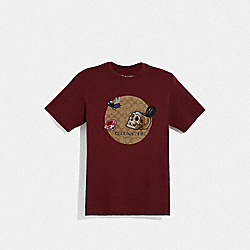 COACH F68809 - DISNEY X COACH SIGNATURE SNOW WHITE AND THE SEVEN DWARFS T-SHIRT BURGUNDY