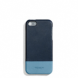 COACH F68915 Bleecker Colorblock Leather Molded Iphone 5 Case CADET/DARK ROYAL