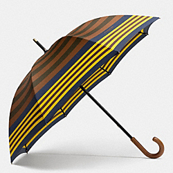 COACH F68923 - BLEECKER BAR STRIPE UMBRELLA DOE/DARK OLIGHT GOLDVE