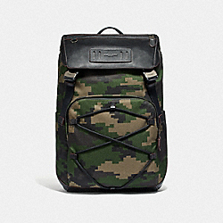 TERRAIN BACKPACK WITH PIXELATED CAMO PRINT - F68985 - DARK GREEN MULTI/BLACK ANTIQUE NICKEL