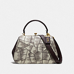 FRAME BAG IN SNAKESKIN - F69025 - B4/NATURAL