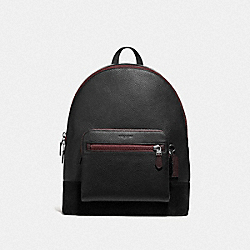 WEST BACKPACK WITH GOTHIC COACH SCRIPT - F69027 - BLACK